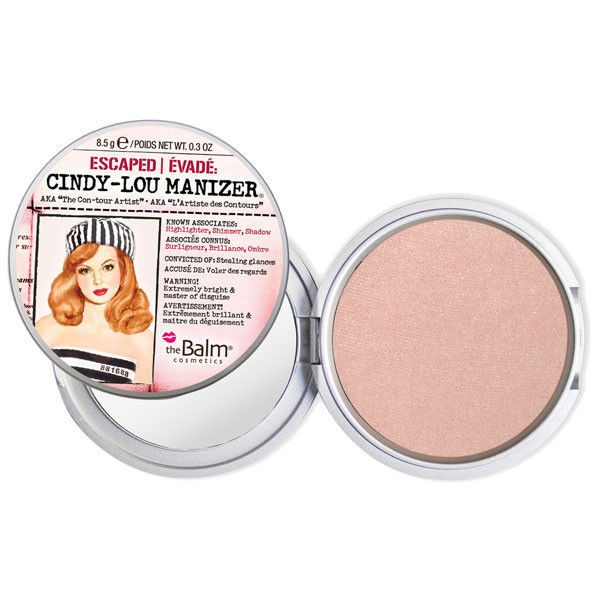 The Balm Бронзер-сиятор-тени Manizers Cindy-Lou Manizer - Peachy-Pink Hued Highlighter 8.5g