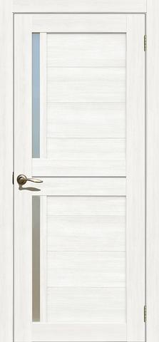 > Экошпон Двероникс 02, стекло матовое, цвет ясень снежный, остекленная