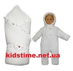Комплект на выписку для новорожденных осень весна Person белый
