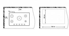 Варочная панель Korting HG 765 CTX схема