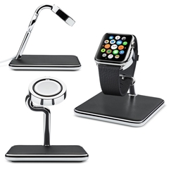 Подставка для Apple Watch Twelve South Forte for для Apple Watch черный/хром