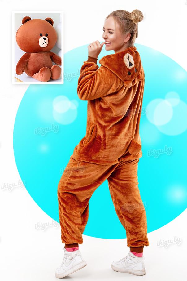 Пижамы кигуруми Медведь Браун braun.jpg