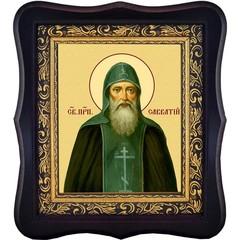 Савватий Соловецкий преподобный чудотворец. Икона на холсте.