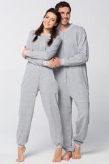 "Пижама-комбинезон ""Серый меланж"""
