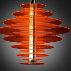 Rondelle Suspension by Leucos Pendant Lights ( RED )