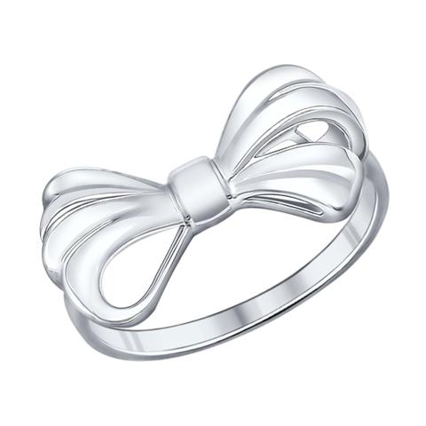 Кольцо из серебра в форме бантика от SOKOLOV