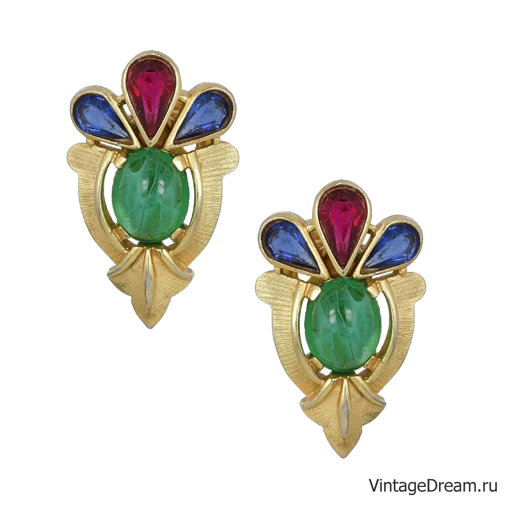 "Клипсы от Trifari из коллекции ""Jewels of India"" 1965 года"