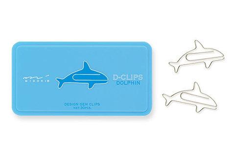 Скрепки Midori D-Clips Dolphin (30 шт.)