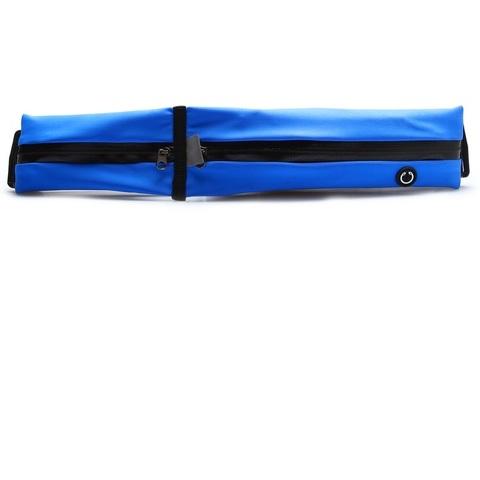 Сумка спортивная на пояс 32 см, 2 отделения, цвет синий