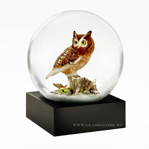 Стеклянный шар со снегом Филин