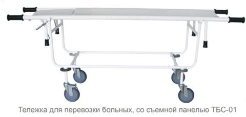 Тележка для перевозки больных, со съемной панелью ТБС-01 - фото