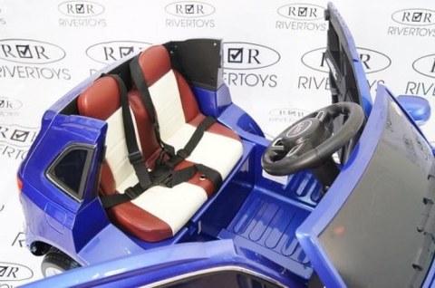 Детский электромобиль Rivertoys AUDI Q5-BLUE-GLANEC