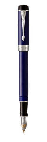 Перьевая ручка Parker Duofold Classic Centennial, Blue and Black CT, перо: F123