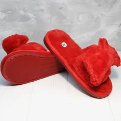 Женские тапочки для дома красные с бантом Yes Mile A-08 Red Bow.