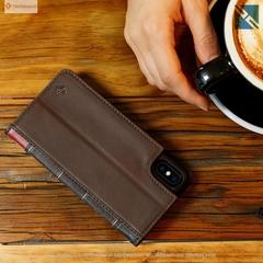 Чехол для iPhone Twelve South BookBook iPhone X чехол-книжка кожа коричневый Brown