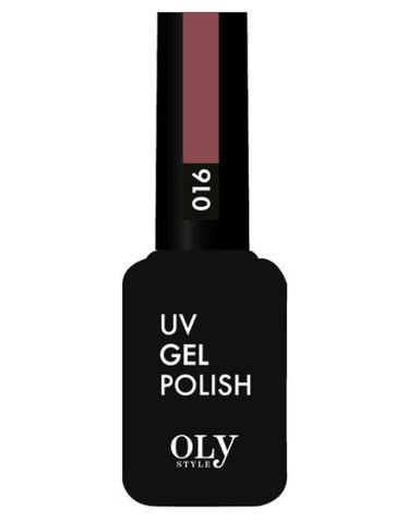 OLYSTYLE Гель-лак д/ногтей тон 016 бордово-коричневый