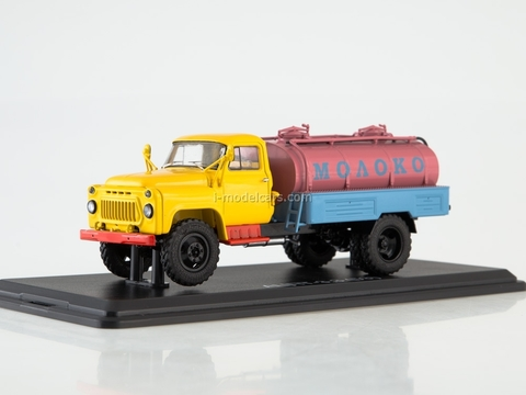GAZ-53 ACPT-3,3 Milk Autoexport yellow-red-blue 1:43 Start Scale Models (SSM)