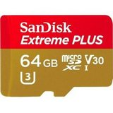 MicroSDXC SanDisk 64GB Class 10 UHS-I A2 C10 V30 U3 Extreme Plus (SD адаптер) 170MB/s