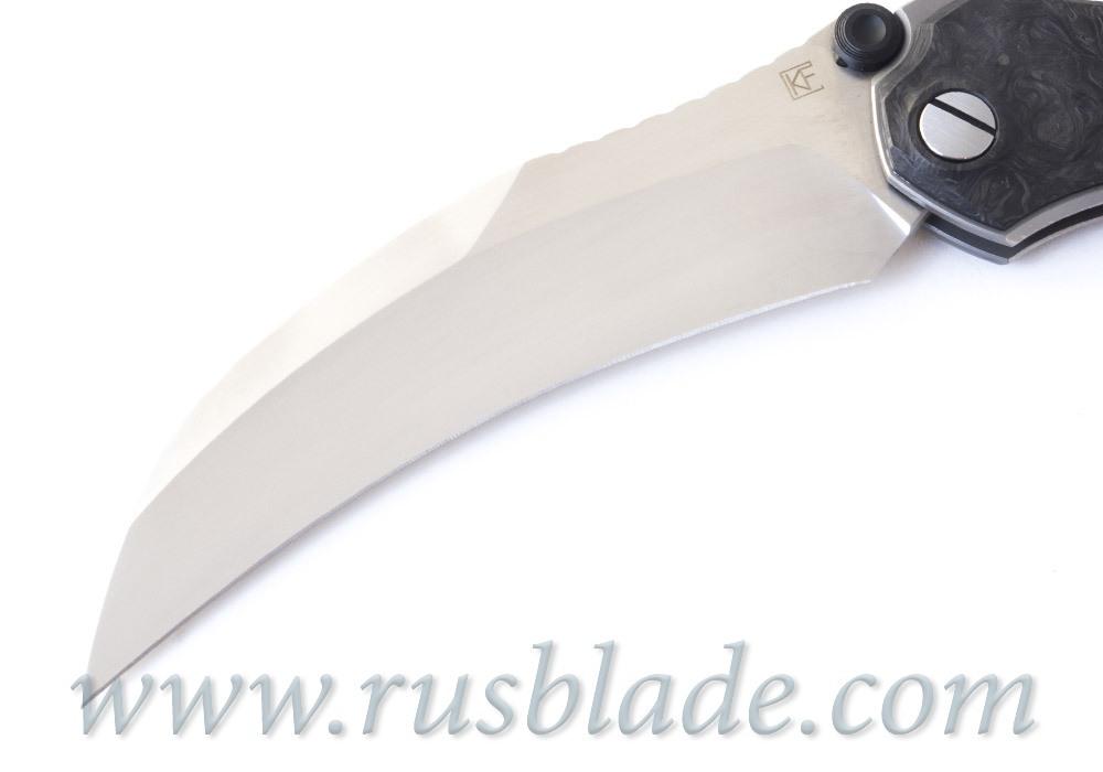 CKF Krokar CF knife (Konygin, Ti, CF, Zirc, M390)