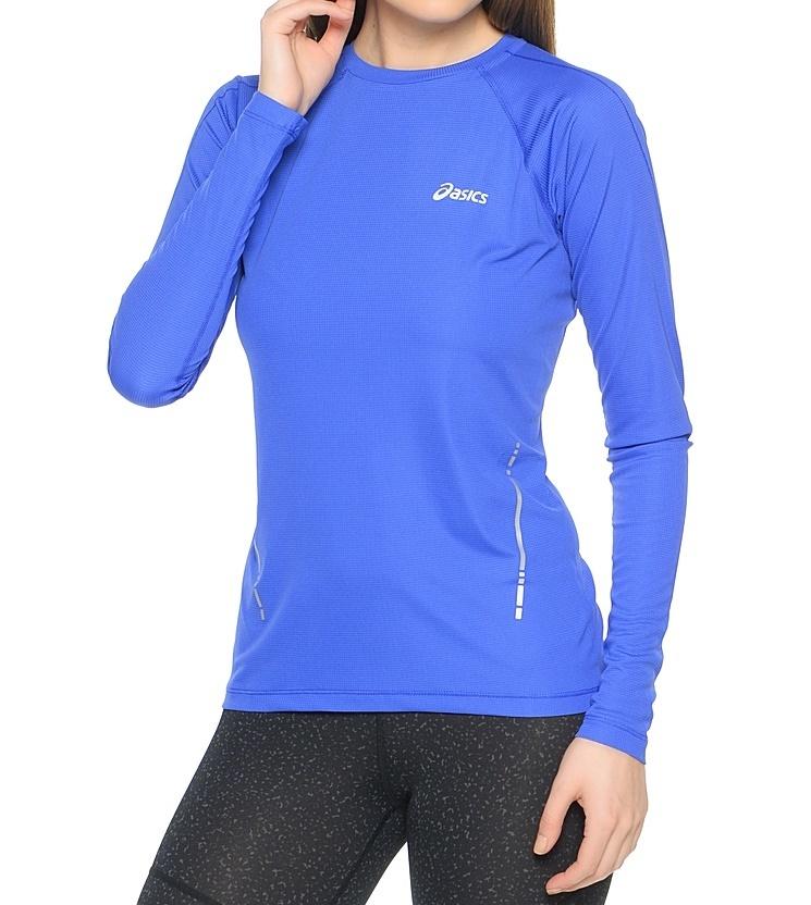Женская рубашка для бега Asics LS Top (114512 8091) синяя фото