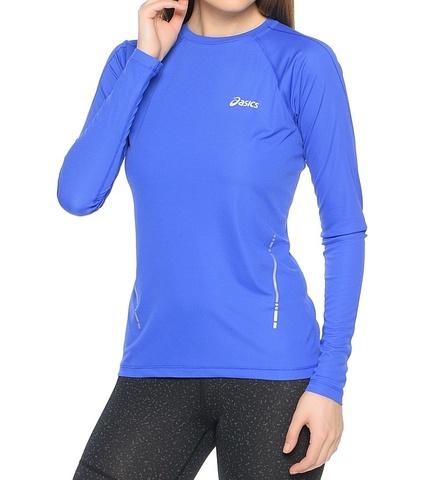 Asics LS Top Женская беговая рубашка синяя