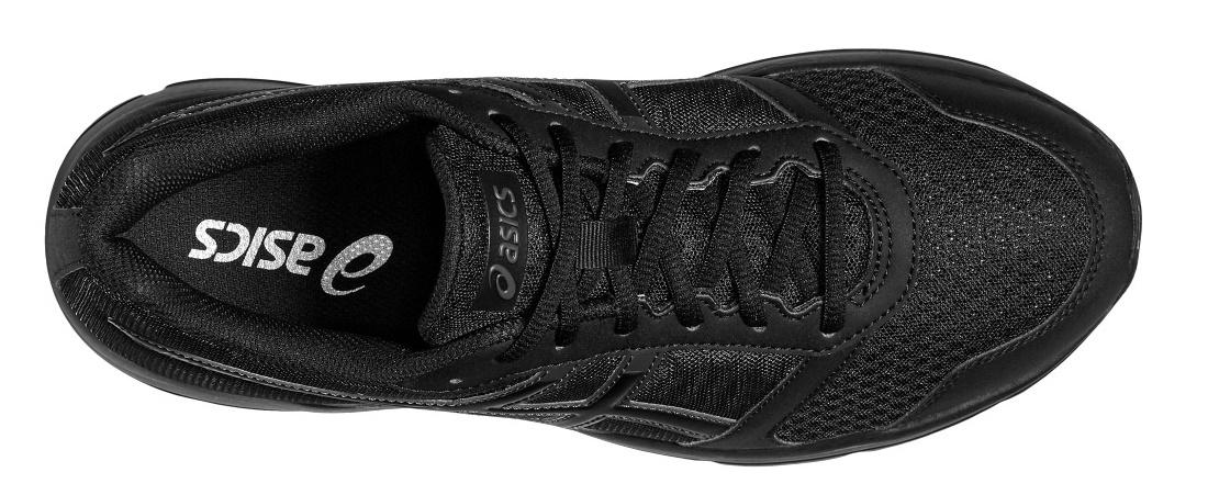 Беговые кроссовки начального уровня для мужчин Asics Patriot 8 (Асикс патриот) черные для бега по асфальту и на беговой дорожке.