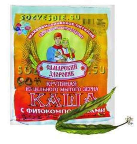 Каша Самарский Здоровяк №32 Пшеничный со спирулиной и ламинарией