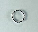 Кольцо витое разъемное, 8x1 мм, посеребренное, 5 шт.