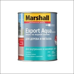 Водная эмаль для дерева и металла Marshall EXPORT Aqua (белая)