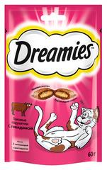 DREAMIES лакомство для кошек  подушечки с паштетом со вкусом говядины