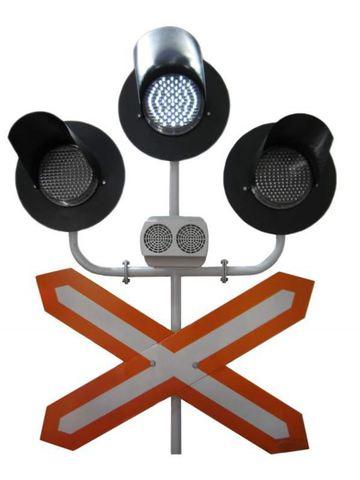 СвеТТофор 87016 Переездный трехзначный светофор СЖД, РЖД, 1:87