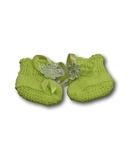 Пинетки - Зеленый. Одежда для кукол, пупсов и мягких игрушек.