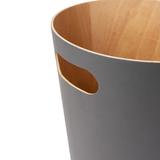Корзина офисная для бумаг и мусора woodrow 7,5 л деревянная, серая Umbra 082780-618 | Купить в Москве, СПб и с доставкой по всей России | Интернет магазин www.Kitchen-Devices.ru