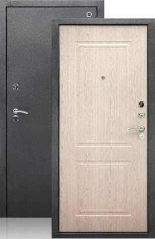 Сейф-дверь входная Аргус Стиль ДА-15, 2 замка, 2 мм  металл, (серебро антик+беленый дуб)