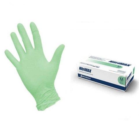 Перчатки нитриловые зеленые 100 шт XS
