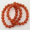 Бусина Агат (тониров), шарик, цвет - янтарно-коричневый, 8 мм, нить