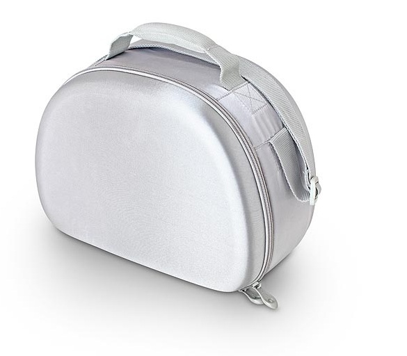 Сумка-холодильник (термосумка) для косметики с жесткими вставками EVA Mold Kit Silver, 6L