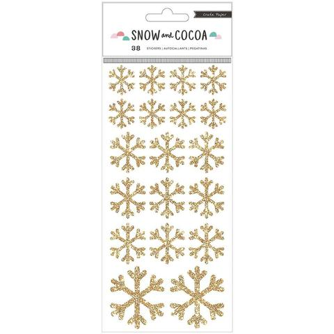 Стикеры с глиттером  Snow & Cocoa от Crate Paper