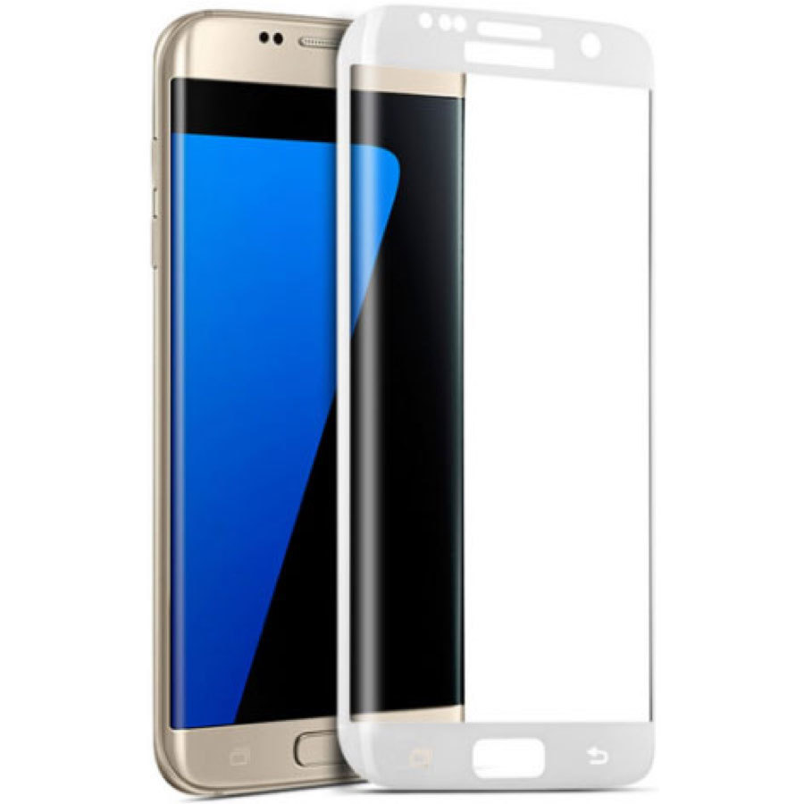 Защитное стекло Samsung Galaxy S6 EDGE 3D White