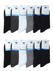 9058 носки мужские, 42-46 (12шт.) цветные