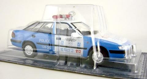 Daewoo Espero S South Korea Police 1:43 DeAgostini World's Police Car #71