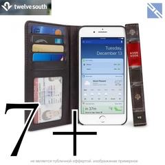 Чехол-книжка Twelve South BookBook для iPhone 8 Plus, 7+, 6S плюс кожа коричневый