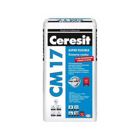 Клей для плитки эластичный СМ17 25кг Ceresit