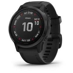 Мультиспортивные часы Garmin Fenix 6S Pro - черные с черным ремешком 010-02159-14