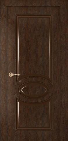 Дверь Румакс Престиж ДГ, цвет каштан, глухая