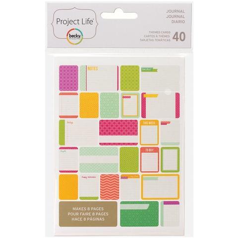 Набор карточек Project Life - Journal 40 шт