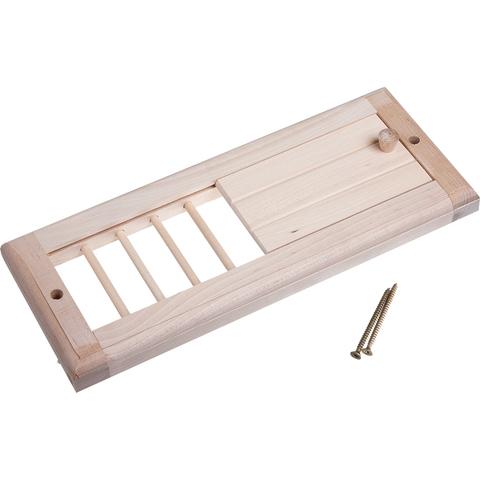 Вентиляционная решетка с задвижкой, 31,5х16,5 см