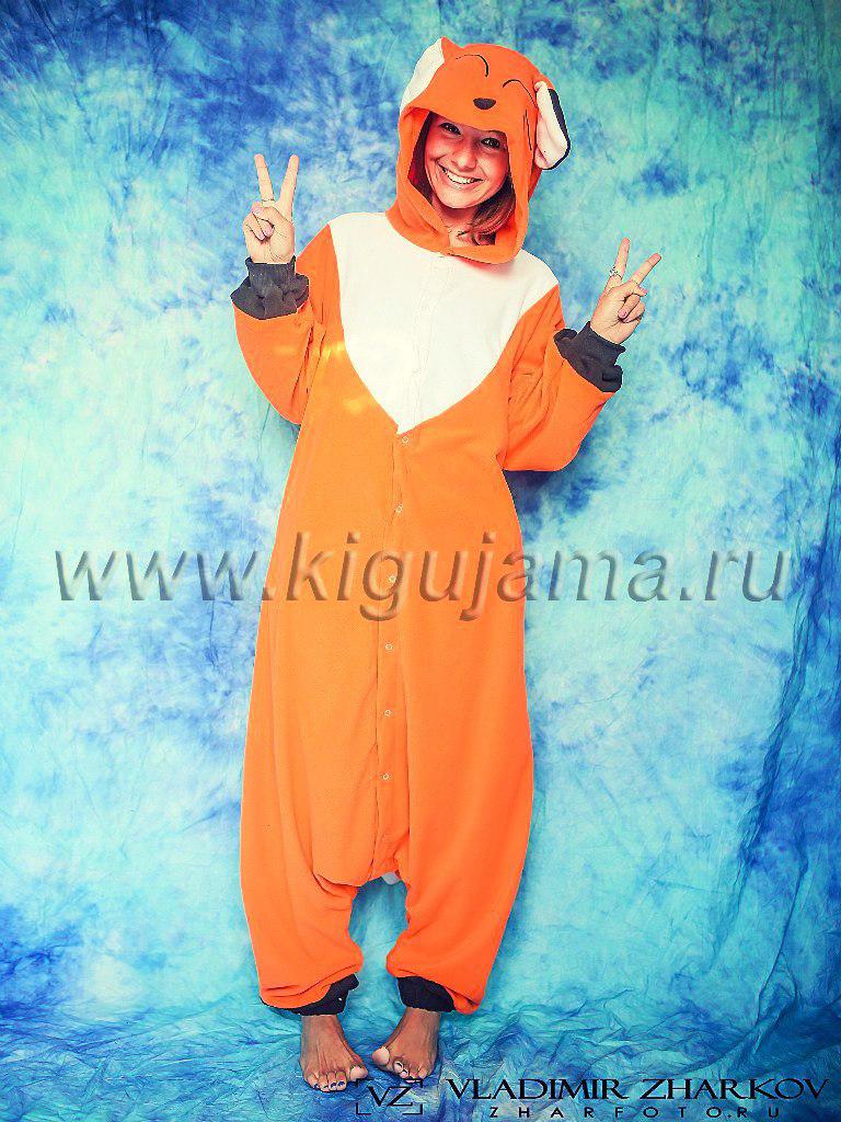 Пижама кигуруми Лиса от Кигужама