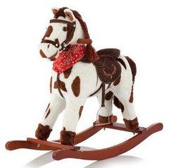 Jolly Ride Качалка меховая Лошадка (YR621)