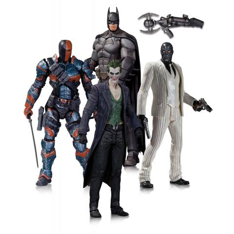 Набор фигурок Джокер, Бэтмен, Черная Маска, Дестроук - Летопись Аркхема, DC Collectibles